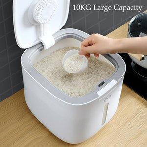 Хранение бутылки JARS 10 кг рисовой ведро для насекомых-достойный влагостойкий герметичный герметичный цилиндр
