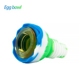 Waxmaid egg Shaped unbreakable smoking bowl silicone body protection for water bongs suit 14mm 18mm joints with a gift box ship from US warehouse