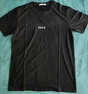 21SS summer New Mens Designer luxury T Shirts womens classic broken letter paris print t shirt cotton t-shirt casual tshirt tops tee
