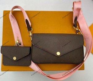 Luxurys Designers bags FELICIE STRAP M80091 Women Handbag Shoulder Totes Pruse Tassel Handbags wallet phone card bag wallets Cross Body tote combination