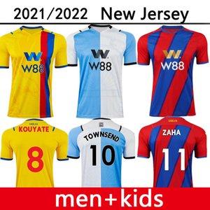 21 22 Home Away Crystal Soserys Zaha Eze Palace 2021 2022 3. Milivojevic J.Ayw Benteeke Mateta McArthur Football Hemd Riedwald Herren Uniform Kids Kit