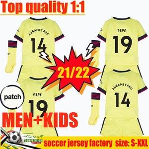 21 22 Arsen بعيدا Soccer Jersey Gars Version Gunners Ødegaard Pepe Saka Thomas ويليان نيكولاس نيكولا 2021 2022 كرة القدم قميص الرجال + أطفال كيت الرابع HumeRace 4th