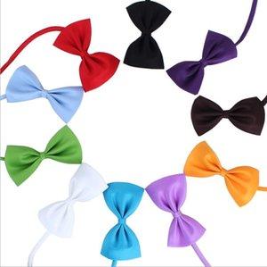 20pcs Pet tie Dog collars bow flower accessories decoration Supplies Pure color bowknot necktie