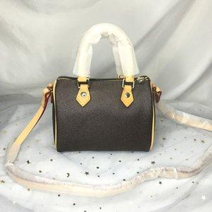 M61252 سيدة فاخرة أزياء نانو سبيدي حمل المحفظة الكلاسيكية الكتف crossbody مصغرة وسادة اليد حقائب اليد محفظة المرأة مصمم برميل على شكل حقيبة