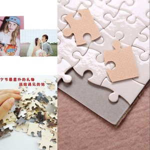 Blank Sublimation A5 Jigsaw with 80 Pieces DIY Heat Press Transfer Crafts Puzzle for Kids Children Christmas Party Favor 368 S2 QGYU CSGE