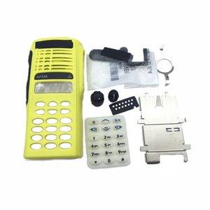 Custodia in custodia in custodia anteriore giallo Custodia riparazione kit di riparazione del volume manopola del canale per Motorola GP338 GP380 PTX760 Radio Walkie Talkie