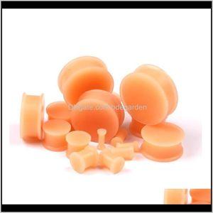 Pf 2Pcs Medical Sile Tunnels Flesh Color Tunnel Flexible Piercings Ear Expanders Plugs 330Mm Round Body Jewelry 2U0S6 Jhpgu