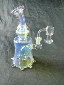 Аксессуары для курения 7-дюймовый стеклянный стеклянный кальян, приятная переработанная труба бонга, шар 14 мм шики шики, заводские прямые ценовые уступки