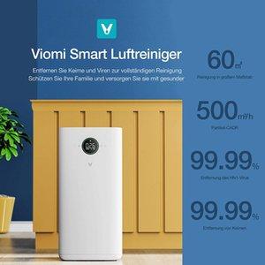 Viomi Smart Air Purificateur PR 99,99% Capacité de filtration, qui a un effet sur la poussière, le pollen, les cheveux des animaux, la stérilisation et l'opération silencieuse.
