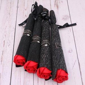 Artificial Rose Carnation Soap Woel Flowers Día de San Valentín Regalo para las mujeres Bouquets Body CenterPieces Partido Flores decorativas GWE6058