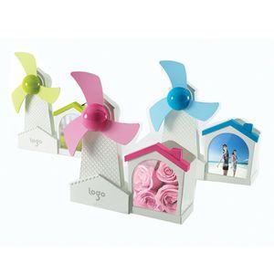 Mini USB Fan with EVA Blade Windmill Design Desktop Fans Photo Frame Pen Holder  Container Artware Gift