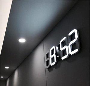 Design 3D Led Modern Digital Alarm Clocks Home Living Room Office Table Desk Night Wall Clock Display H919G M5Opt