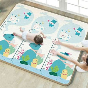 1cm XPE Environmentally Friendly Thick Baby Crawling Folding Carpet Play for Children's Safety Mat Rug Playmat 210401