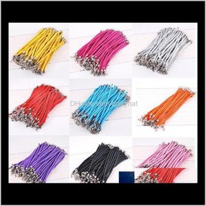 Cord Wire 100Pcslot 205Cm Pu Leather Braided Charm Chain Bracelets Love For Diy Jewelry Bead Lobster Clasp Link Chains 8Ekyq Tshzy