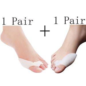 2Pair Silicone Toe Separator Pedicure Tools Gel Straightener Toe Separators Hallux Valgus Plantillas Para Los Pies Pedicura