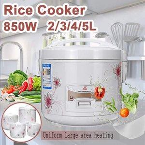 Fogão de arroz elétrico eficiente 2/3/4 / 5L Liga de ferro fundido de aço de aquecimento de sopa de sopa Maker Multicooker Cozinha Eletrodomésticos Fogões