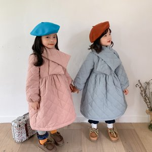 Winter girls baby clothes outfit plus cotton dress jacket coats for toddler girl clothing baby school wear dress with scarf