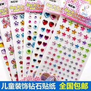 Children's Stage Makeup Three-dimensional 3d Acrylic Sticker Love Five Pointed Star Color Paste Paper LNF3723