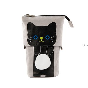 Cute Pencil Case Storage Standing Pen Holder Telescopic Makeup Pouch Pop Up Cosmetics Bag Stationery Office Organizer Box For LLD10330