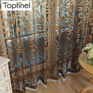Curtain & Drapes Top Finel Geometric Modern Window Sheer Panels For Living Room The Bedroom Kitchen Blinds Treatments Draperies