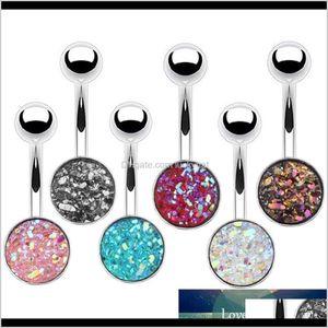 Bell Button Rings 1Pc Surgical Steel Belly Sexy Piercing Ombligo Ear Piercings Navel Earring Gold Body Jewelry Eo5Rk Cuhc9