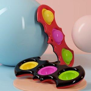 DHL Push Blase Simple Party Dimple Key Ring Fidget Pop Toys Keychain Kinder Erwachsene Roman Squeeze Bubbles Puzzle Finger Spaß Spiel Zappgels Spielzeug Stress Relief