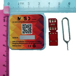 New MKSD ultra rsim heicard turbo unlock sim iPhone 13 ios 15.x ,Red packaging, red chip