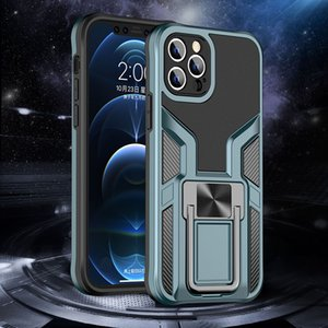 Shockproof Armor Cell Phone Cases Full Body Protective Back Cover with Magnetic Collapsible Kickstand for iPhone Samsung Galaxy Moto Huawei