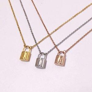 Designer collana di coppia di marca moda moda lussuries serratura collane collana in acciaio in titanio 18K collana donna per regalo di compleanno