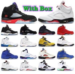 Com caixa 5 5s sapatos de basquete stealth vela jumpman 6 6s 2021 Carmine Travis Cactus Jack Fumo Cinza Mens Mulheres Anthracite Trainers Sneakers