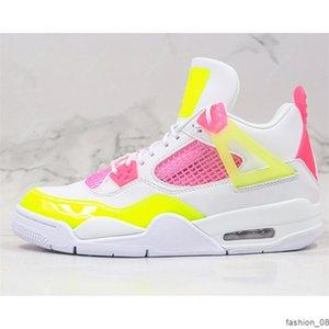 Lemon Venom Jumpman 4 4s fashion shoe Womens Basketball Shoes