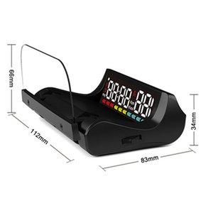 L5 Car HUD Head-Up Display OBD2 Digital Auto Dashboard Kit Styling Speedometer Odometer Gauge Security Alarm