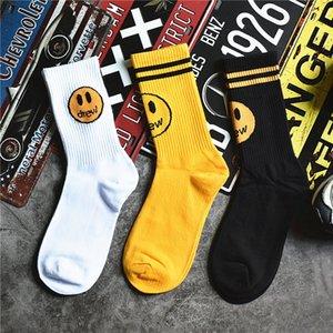Fashion Street men's and women's drew house smile socks Bieber same ins cotton stockings