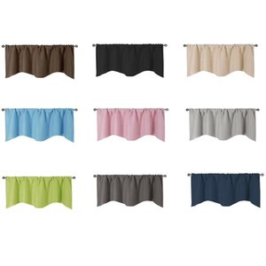 Curtain & Drapes Solid Color Blackout Curtains Roman Blinds Elegant Kitchen Coffee Short Modern Window For Door