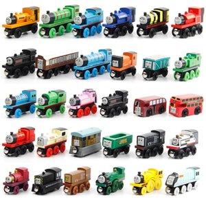 59 Styles Mini Wood Engine Train Magnetic Wooden Trains Model Car Toy Tracks Railway Locomotives Toys For Boy