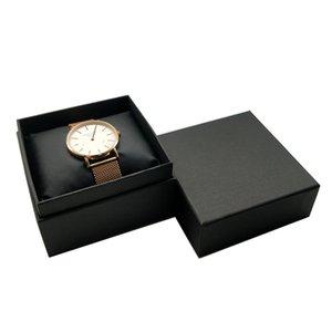 5pcs Bijoux Cas d'emballage Noir Papier avec Coussin de Velvet Black Velvet Taie d'oreiller Bracelet Bracelet Organiseur Boîte cadeau Boîte de rangement 642 Q2