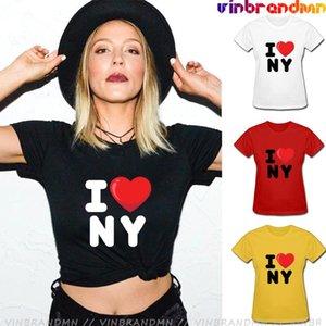 Women's T-Shirt Arrivals I Love NY York Printed Heart Summer Versatile T Shirt Customized Cotton Camiseta Lovely Tee Top