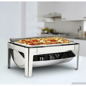 Other Cookware Chafing Dish 9 L95 Quart Stainless Steel Rectangular Chafer Full Size Buffet 7K0V0 Tuybf