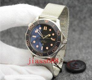 Высокое качество Джеймс Бонд 007 Наблюдайте не время, чтобы умереть керамические рамки механические автоматические часы из нержавеющей стали Flod CLASP Мужская наручная чашка