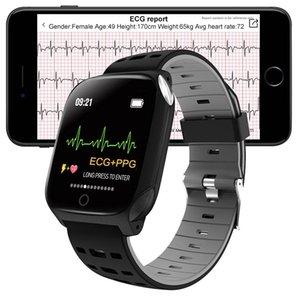 F16 Smart Watch ECG+PPG Measurement Blood Pressure Heart Rate Incoming Reminder Information Fitness Tracker Sport Wristwatch Bracelet PK IWO 13 Pro Smartwatch