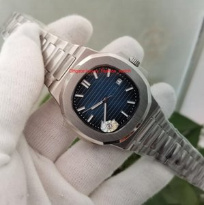 Topselling Reloj de pulsera de alta calidad Movimiento automático 40 mm Dial azul clásico 5711 / 1A Relojes de relojes traseros transparentes