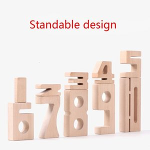 Wooden 1-10 Number Building Blocks Digital Baby Early Educational Learning Montessori Toys 1008