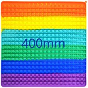 40cm Fidget Toys Rainbow Anti Stress Bubbles Super Big Size Push Fidget Sensory Toy Stress Reliever Board Games Reusable Squeeze Toys Gifts
