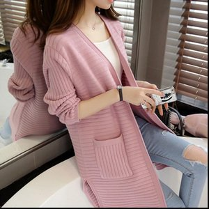 Womens Sweaters Women Knitted Cardigan Coat Autumn Winter Casual V Neck Long Sleeve Shawl Sweater Female Jacket R723