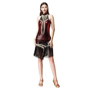 Latin Samba Dance Dress Women For Ballroom Sexy Fringe Sequins Costume Skirt Charleston Dresses Gatsby Flapper