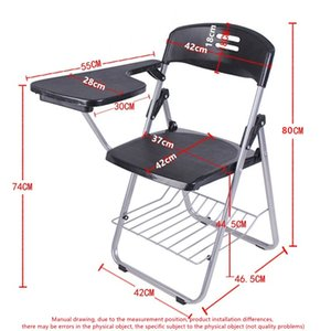 Lightweight Plastic Folding Chair Training Chair with Writing Board School Chair Factory Direct Sales