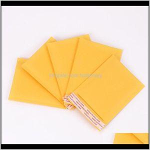 Imballaggio all'ingrosso 110130mm Buste Buste Borse Mailler Imbottito Busta Kraft Bubble Bolla Mailing Bag Fragile Forniture JXGC8 UE8E3