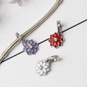 Personalized DIY Metals oil drop lotus pendant accessories in 4 colors
