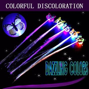 LED Flashing Hair Braid Glowing Luminescent Hairpin Novetly TOYS Ornament Girls Year Party Christmas Gift
