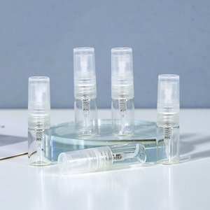2ml Packing Bottles transparent empty plastic   glass spray perfume personal care products separately bottled repeated filling small sample cosmetics trial